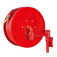 Quality Red Fire Hose Reel And Cabinet Automatic / Manual Swinging Fire Water Hose for sale