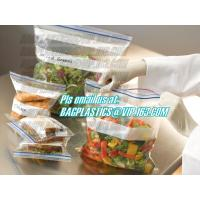 Quality double track custom printing freezer zipper bags, Resealable clear PE double sealed zipper bag wholesales, FDA food pack for sale