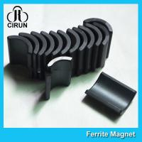 Quality Y30 Grade Ferite Arc Magnets For Motors , Ferite Ceramic Motor Arc Magnets for sale