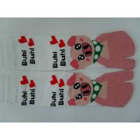Quality Cute Pig Pattern, Individual Logos, White / Black / Blue Two Toe Socks Couple Socks For Girls for sale