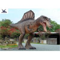 Quality Attractive Animatronic Jurassic Dinosaur Garden Ornaments Mouth Movement With Sounds for sale
