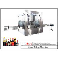China 24 Head Nozzle Automatic Liquid Filling Machine For 0.5 - 2L Wine / Soy Sauce on sale