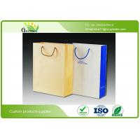 China Silk Printed Paper Shopping Bags , Die Cutting Handle Kraft Paper Gift Bags on sale