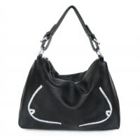 Quality Lady Style 100% Great Leather Black Cute Handbag Shoulder Bag #2195 for sale