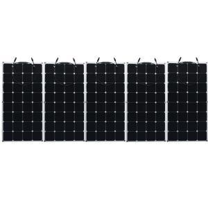 China 60W 120w 200w SunPower Flexible Solar Panels 22% Efficiency Boat / RV / Vehicle Application on sale