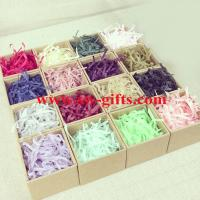 Quality Hot selling gift tissue paper shredded, crinkle cut paper shred for wrap for sale