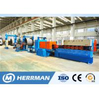 China 1200rpm Interlock Cable Armouring Machine For Flat Submersible Oil Pump Cable on sale