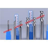 Quality Standard Length Type 2 Flute Aluminum End Mill For Aluminum Bright Finish No Coating for sale
