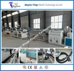 Quality Plastic EVA Dust Collector Pipe Extrusion Plant / EVA Vacuum Cleaner Hose Manfacturing Machine for sale