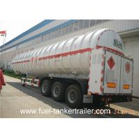 Quality Two - layer tank structure LNG Semi Trailer with effective volume 52m3 for sale