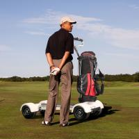 Buy EcoRider golf scooter electric golf cart scooter with removable battery at wholesale prices