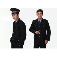 Quality Single Breasted Security Guard Uniform , Long Sleeve Black Security Jacket For Men for sale