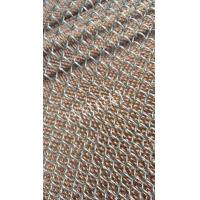 Quality beautiful chain link curtain 100% drapery decorative metal coil mesh for sale