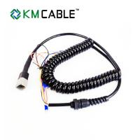 Quality Coiled Extension Spiral Cable Assembly Fine Copper Wire Replacement Joystick Parts for sale