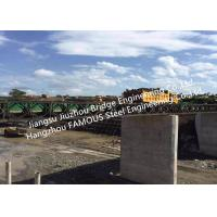 Quality Prefabricated Bailey Steel Bridge For Water Conservancy Project Portable Structural Steel Bridge With Supporting Piers for sale