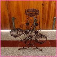 Quality Hotel leisure wrought cast iron flower stand for sale
