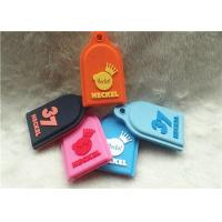 Quality SGS Personalized Promotional Gifts / Multi - Colored Embossed Or Debossed Silicon PVC Keychain for sale