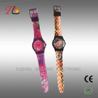 Children's watch with PVC strap color customized for promotion