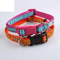 Buy cheap Manufacturer Sizes 100% Pure Nylon webbing Plastic buckle dog collar pet leash from wholesalers