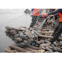 Quality Safety Gabion Mesh Cage 2.0 - 4.0 Mm Wire Diameter Apply To Seawall Protection for sale