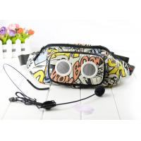 China Outdoor Speaker Bag For Teaching Guiding , Sport Waist Bag With wired Microphone on sale