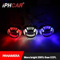 Quality Iphcar car accessories fashional style LED light guide Panamera shroud with 3.0 inch Q5 hid bi xenon projector lens for for sale