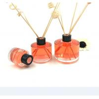 China Round 100ML Glass Diffuser Bottles , Fragrance Diffuser Bottles With Reed Sticks on sale