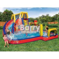 Quality Mobile Attraction Inflatable Water Park Equipment , Splash Water Park For Little Kids for sale