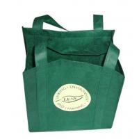 Quality Reusable Non Woven Carry Bags Promotional Gift Totes in Green Purple for sale