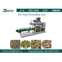 Double Screw Pet Food Extruder , Unique Dry Pet Food Production Line