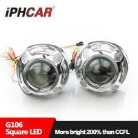 China IPHCAR 3 inch Panamera Hid bi xenon Led Angel Eyes Headlights Hid Projector Lens Kit for All Cars Hid Hi/Low Beam on sale