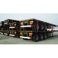 Quality 20 Feet And 40 Feet Flat Deck Semi Trailer Trucks With 12 Tires Cimc Sinotruk for sale