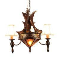 Quality Moose antler chandelier Lighting Fixtures With lampshade (WH-AC-29) for sale
