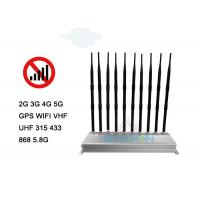 Quality Indoor 5G  Cell Phone Signal Jammer Blocker 30m Radius Range 10 Antennas 24 Hours Work for sale
