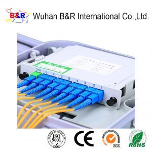 Quality SGS 1260nm 1X8 Fiber Optic Coupler Splitter for sale