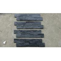 Quality Black Slate Wall Stone Panels For Inside / Outside Wall Stone Cladding for sale