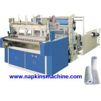 Quality Horizontal Jumbo Roll Toilet Paper Roll Making Machine , Electric / Pneumatic Control for sale