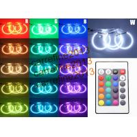 Quality SMD RGB color angel eyes 5050 42LED halo rings kits for BMW E46 NON- projector 131mm 146mm for sale