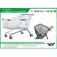 China European Style Supermarket personal shopping cart with wheels , Large Capacity wholesale