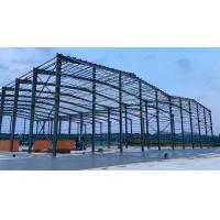 Quality Grey Paint Colored Sheet Roof C Purlin Workshop Steel Structure for sale