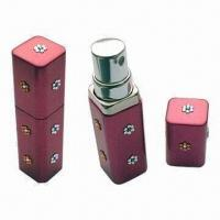 Quality Aluminum Perfume Atomizer, Decorated with Swarovski Crystal Stones for sale