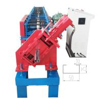 China 16 Rows Purlin Roll Forming Machine / C Channel Roll Forming Machine Width 80-300mm on sale