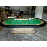 China Custom Felt Baccarat Table With LCD , 110 inch Poker Table with Steel Cup wholesale