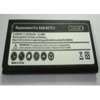China Replacement mobile phone battery for Samsung Galaxy Note 4  3.85V 3220MAH on sale