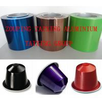 China lacquer aluminum foil for coffee capsule on sale