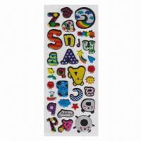 Quality Puffy/Foam Stickers with Four Colors Printing, Customized Designs Welcomed  for sale