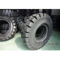 Quality Black Solideal Forklift Tires , Pneumatic Forklift Industrial Tyres 8.25-12 for sale