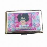 Quality Metal Business Card Case with Epoxy and Gold/Silver/Black Finish for sale