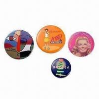 Buy cheap Button Badges for Promotions, Available in Different Sizes from wholesalers