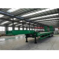 Quality 4mm Antiskid Plate Heavy Haul Trailer For Transport Cranes / Bulldozers for sale